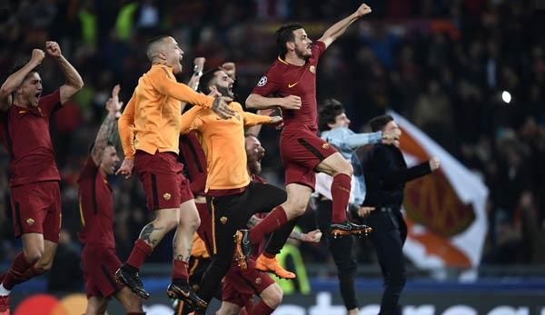 Champions League: After a sensational victory: Roma president jumps into a fountain