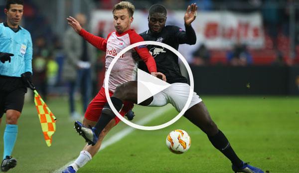 Europa League: Video Highlights: Salzburg Wrestles Leipzig Down Again