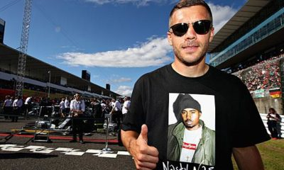 Bundesliga: Excitement over Podolski posters in Düsseldorf