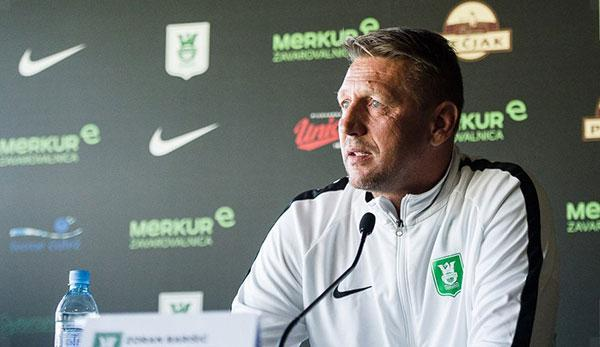 Soccer international: Zoran Barisic at NK Olimpija Ljubljana before being kicked out